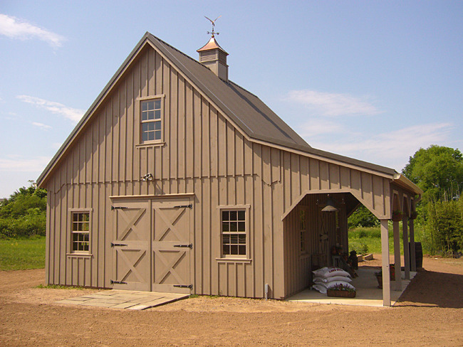 Abc fence company custom barns Garage barn